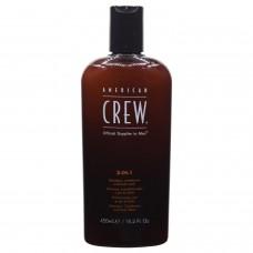 American Crew 3 in 1 Tea Tree Şampuan - Krem - Vücut Şampuan 450ml